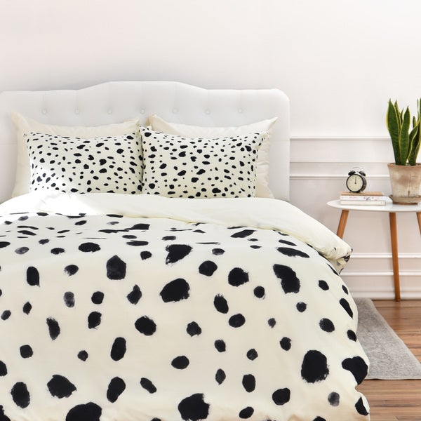 Rebecca Allen Miss Monroes Dalmation Duvet Cover