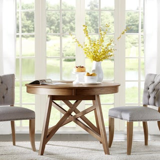 Madison Park Kimball Natural Oak Round Dining Table