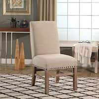 Abbyson French Vintage Wheat Nailhead-trim Dining Chair