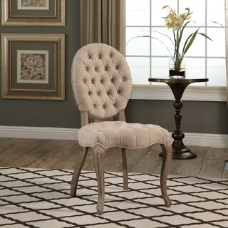 Abbyson French Vintage Wheat Tufted Dining Chair
