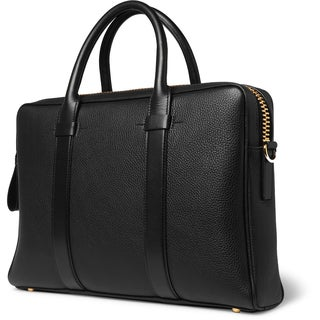 Tom Ford Buckley Black Pebbled Leather Briefcase