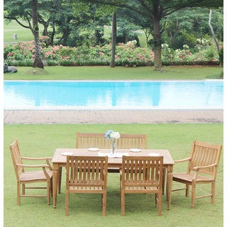 Willoughby Teak 6-Piece Dining Set