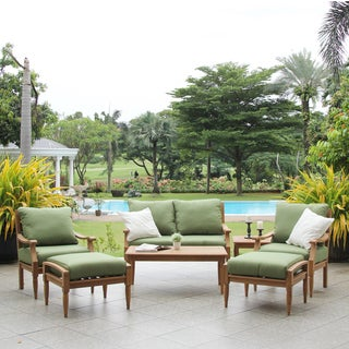 Willoughby Teak 7 Piece Deep Seat Outdoor Sofa Set
