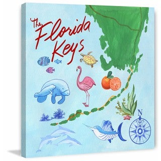 Marmont Hill - 'The Wild of Florida Keys' Painting Print on Wrapped Canvas