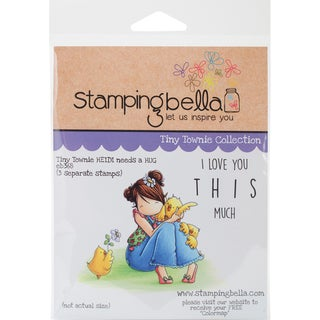 Stamping Bella Cling Stamp 6.5X4.5-Tiny Townie Heidi Needs A Hug