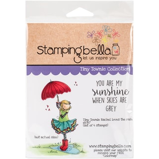 Stamping Bella Cling Stamp 6.5X4.5-Tiny Townie Rachel Loves The Rain