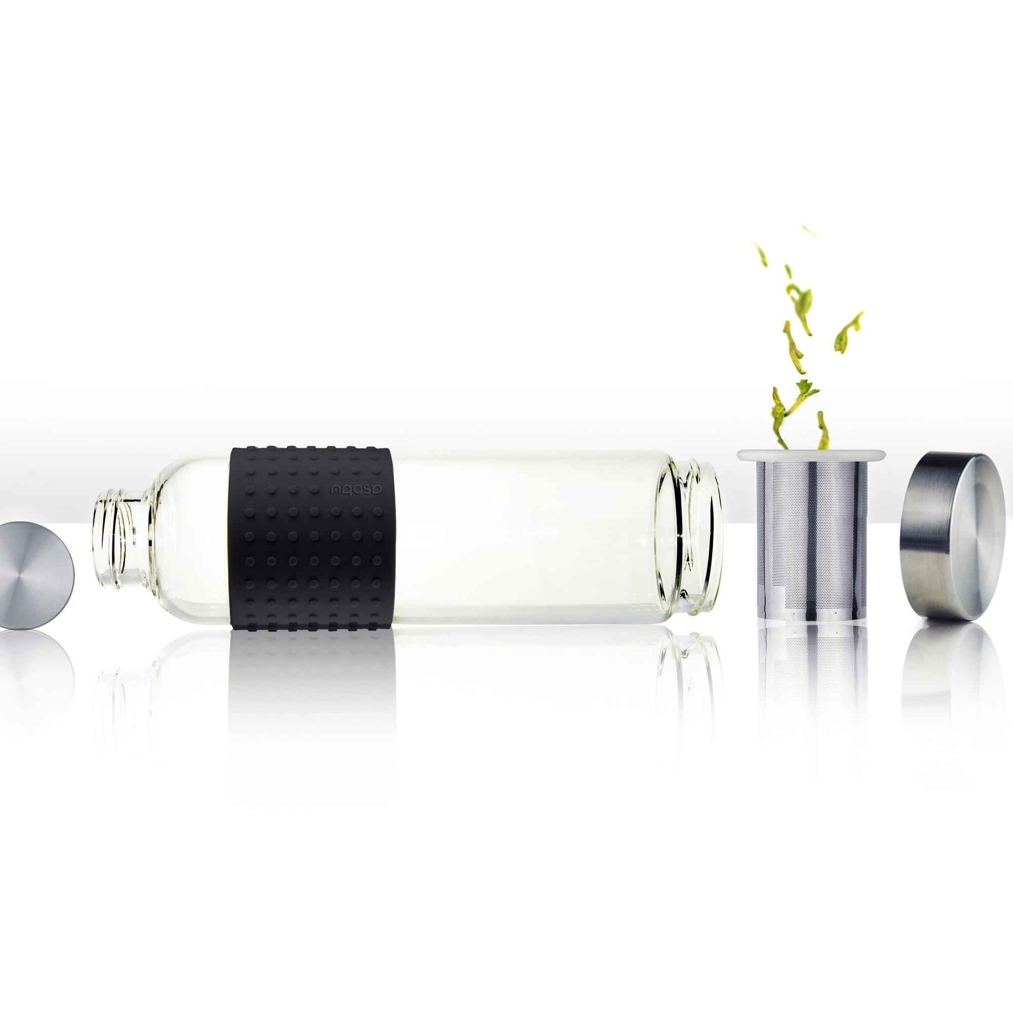 N Asobu Black Plastic 14-ounce Ice Tea To-Go Bottle (Black)