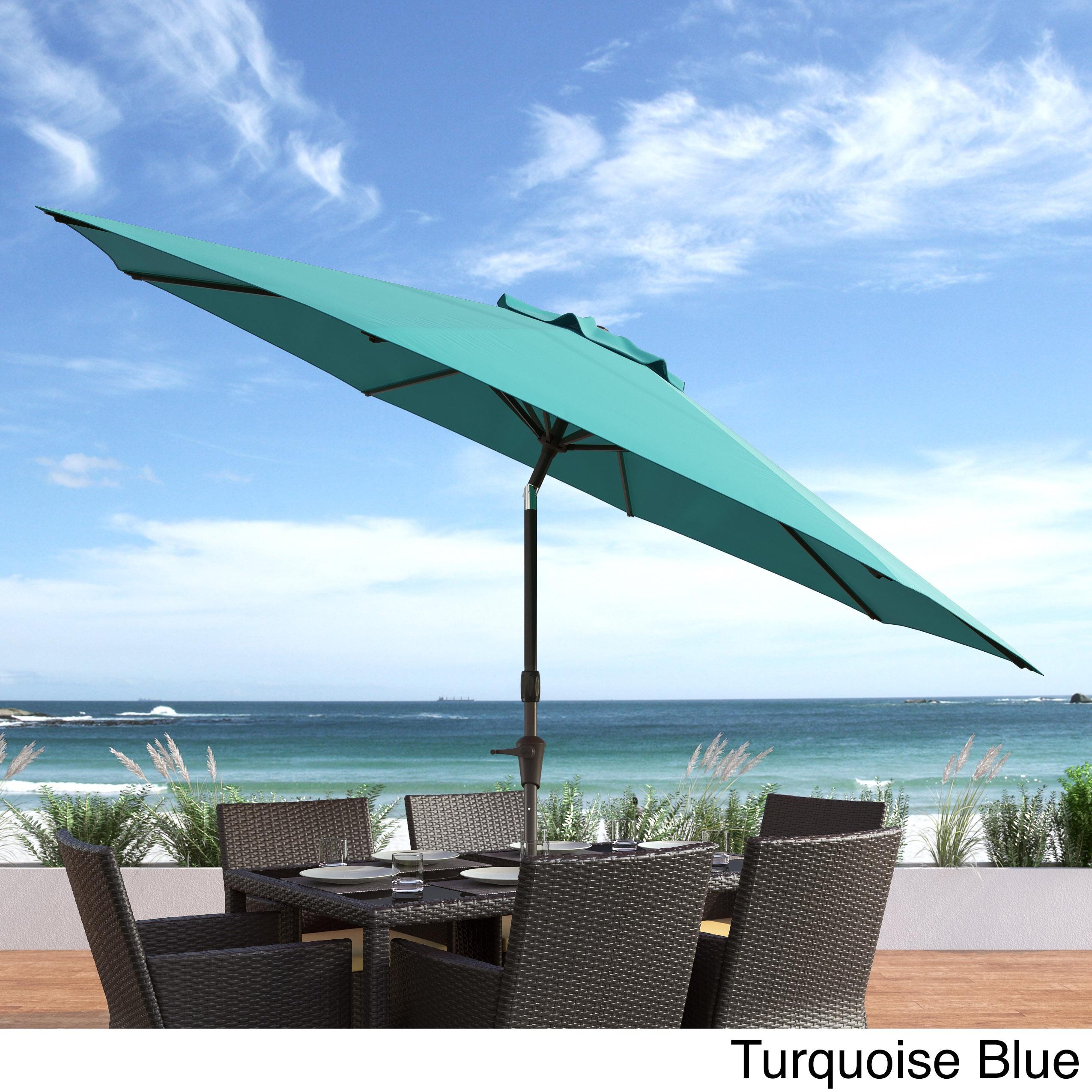CorLiving UV And Wind Resistant Tilting Patio Umbrella (Option: Blue)