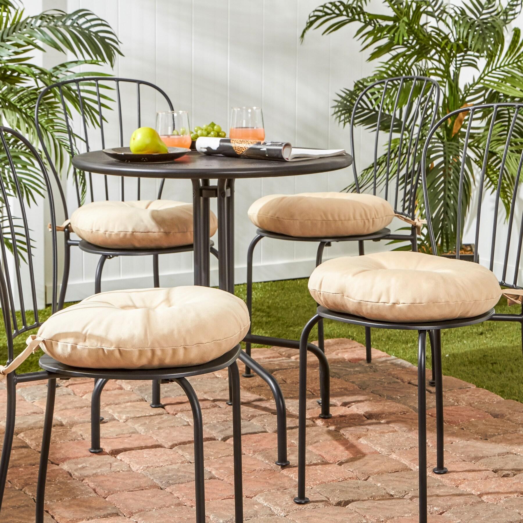 Fantastic Havenside Home Driftwood 15 Inch Round Outdoor Solid Bistro Chair Cushion Set Of 4 Frankydiablos Diy Chair Ideas Frankydiabloscom