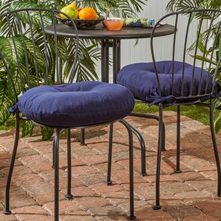 18-inch Round Outdoor Bistro Chair Cushion (Set of 2) - 18w x 18l - Thumbnail 0