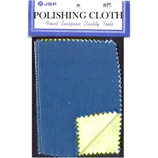 "JSP®JEWELERS POLISHING CLOTH , 6""X4"" BLUE/YELLOW(ps210)"
