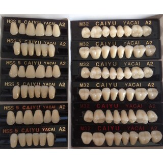 JSP®POLYMER RESIN DENTURE TEETH A3 UPPER+LOWER DENTAL 12 SETS (dt232a3)