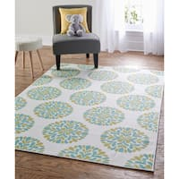 "Mohawk Home Soho Flowering Medallion Area Rug (7'6 x 10') - 7'6"" x 10'"