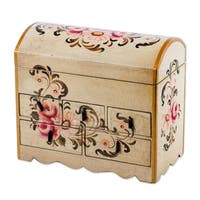 Chest of Drawers, 'Rose Bouquet' (Peru)