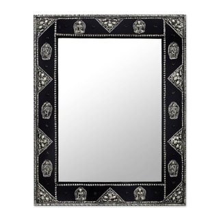 Handmade Mirror, 'Tranquility' (India)