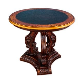 Wood Coffee Table, 'Arequipa Baroque' (Peru)