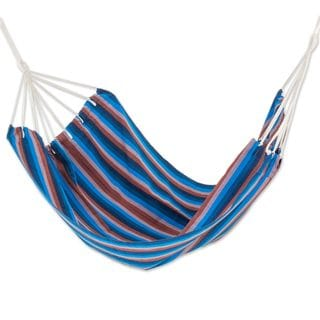 Double Handmade Hammock, 'Beauty of The Lake' (Guatemala)
