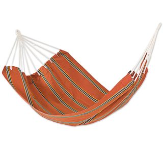 Double Handmade Hammock, 'Sunset Vista' (Guatemala)