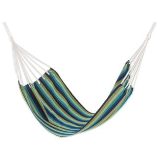 Single Handwoven Hammock, 'Cloudy Forest' (Guatemala)