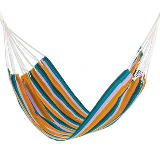 Single Handwoven Hammock, 'Vacation Splendor' (Guatemala)