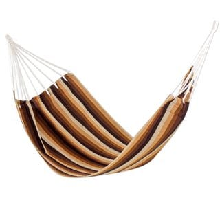 Single Handwoven Hammock, 'Earthly Reign' (Guatemala)