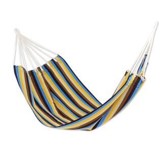 Single Handwoven Hammock, 'Tropical Breeze' (Guatemala)