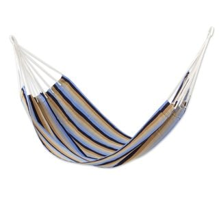 Single Handwoven Hammock, 'Quiet Beach' (Guatemala)