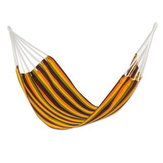 Single Handwoven Hammock, 'Guatemalan Sunset' (Guatemala)