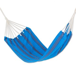 Single Handwoven Hammock, 'Beauty of The Sea' (Guatemala)