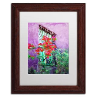 Lois Bryan 'Painted Rose Covered Window' Matted Framed Art