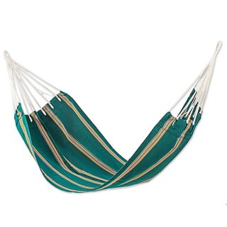 Single Handwoven Hammock, 'Happy Beach' (Guatemala)