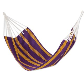 Single Handwoven Hammock, 'Romantic Sunset' (Guatemala)
