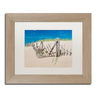 Michael Blanchette Photography 'Worn Beach Fence' Matted Framed Art