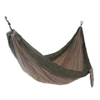 Handmade Single Parachute Hammock, 'Jungle Dreams' (Indonesia)