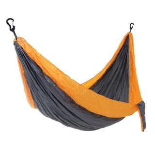 Handmade Single Parachute Hammock, 'Morning Dreams' (Indonesia)