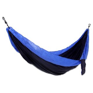 Handmade Double Parachute Hammock, 'Pacific Dreams' (Indonesia)