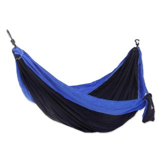 Handmade Single Parachute Hammock, 'Pacific Dreams' (Indonesia)