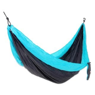 Handmade Single Parachute Hammock, 'Highland Dreams' (Indonesia)