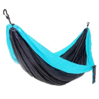 Handmade Double Parachute Hammock, 'Highland Dreams' (Indonesia)