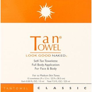 Tan Towel Self-Tan Towelette Full Body Classic (Pack of 15)