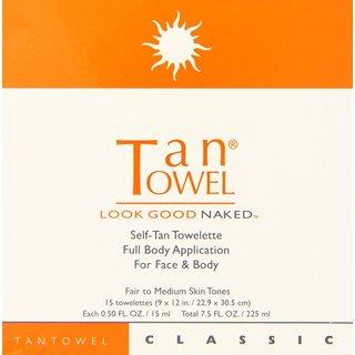 Tan Towel Self-Tan Towelette Full Body Classic (Pack of 15)
