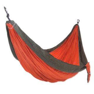 Handmade Double Parachute Hammock, 'Summer Dreams' (Indonesia)