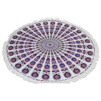 Handmade Cotton Beach Roundie, 'Mandala Comfort' (India)