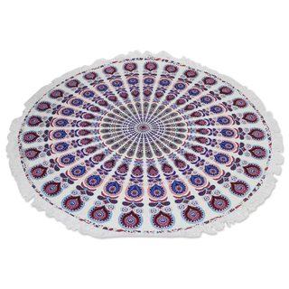 Handmade Cotton Beach Roundie, 'Mandala Comfort' (India)