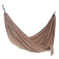 Handmade Double Parachute Hammock, 'Uluwatu Tan' (Indonesia)