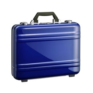Zero Halliburton Large Blue Classic Framed Polycarbonate Attache Briefcase