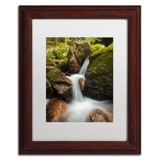 Michael Blanchette Photography 'Granite Cascade' Matted Framed Art
