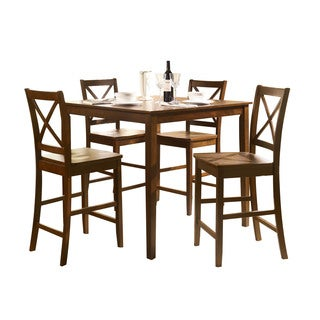 Acme Martha 5-Piece Pack Counter Height Set, Country Brown
