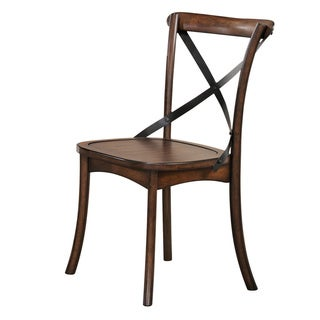 Acme Furniture Kaelyn Dining Chair (Set-2), Dark Oak & Black