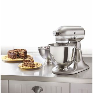 KitchenAid KSM160APSCS Architect Series Cocoa Silver 5-quart Tilt-Head Stand Mixer